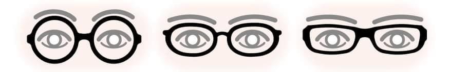 satowa眉とメガネフレームが似たラインとは