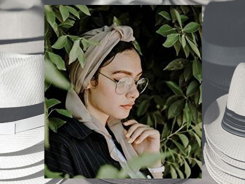 メガネと帽子で花粉症対策