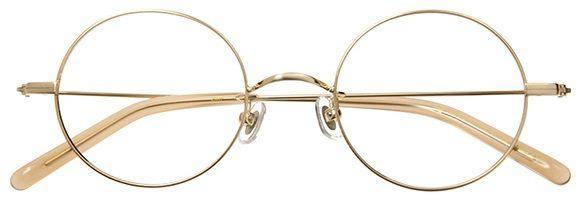 フレームの細いメガネ
