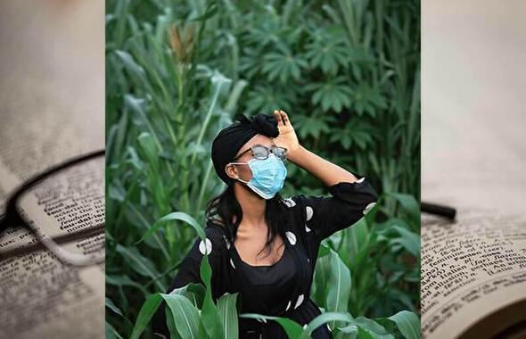 マスクとサングラス